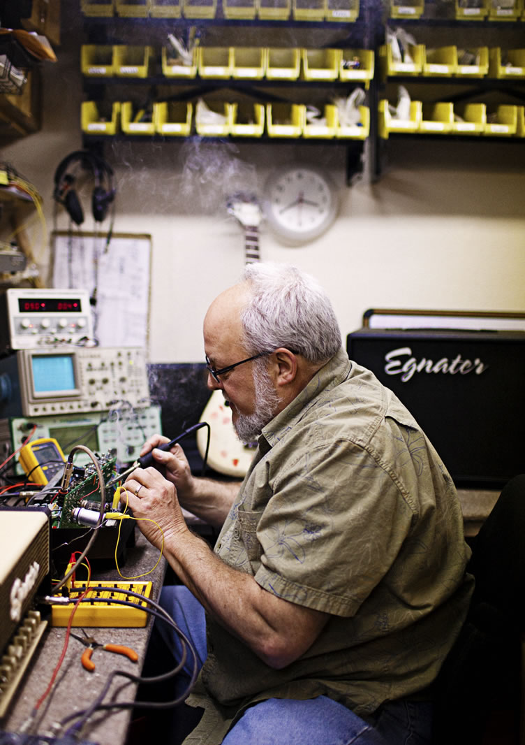 Bruce Egnater in his workshop